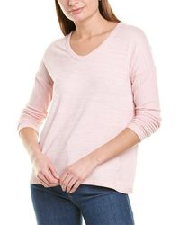 Workshop Waffle Knit Sleeve Top - Pink