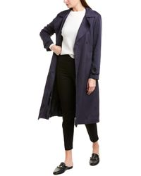 Ba&sh Zurich Trench Coat - Blue