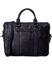 Longchamp 3d Leather Document Case - Blue