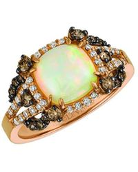 Le Vian ? 14k Rose Gold 1.64 Ct. Tw. Diamond & Opal Ring - Metallic