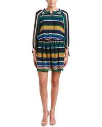 Shoshanna - Silk Blouson Dress - Lyst