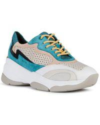 Geox Kirya Suede-trim Sneaker - Gray
