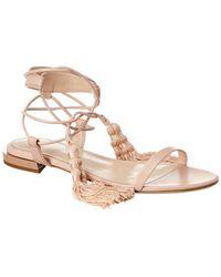 Lanvin Tassel Leather Sandal - Brown