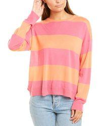 South Parade Striped Wool Jumper - Orange