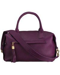 Gigi New York Welby Leather Satchel - Purple
