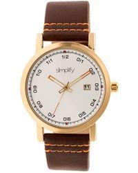 Simplify Unisex The 5300 Watch - Metallic