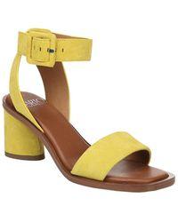 Franco Sarto Risa Suede Sandal - Yellow