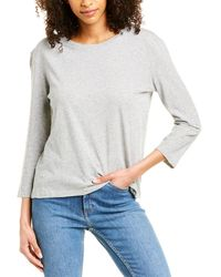 Vince 3/4-sleeve Top - Gray