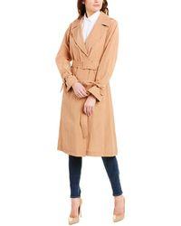 Cole Haan Feminine Trench Coat - Brown