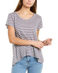 Wilt Baby High-low Linen-blend T-shirt - Grey
