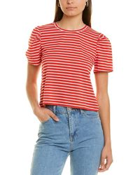 BCBGeneration Puff Sleeve T-shirt - Red