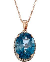 Effy - Fine Jewelry 14k Rose Gold 6.80 Ct. Tw. Diamond & Topaz Necklace - Lyst