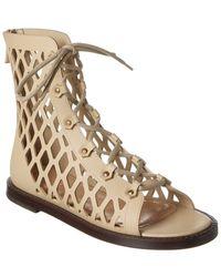 Dior D-trap Leather Sandal - Brown