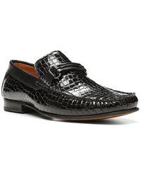 Donald J Pliner Donnie Leather Loafer - Black