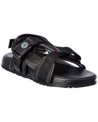 Versace Logo Sandal - Black