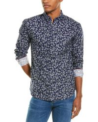 Joules Invitation Classic Fit Woven Shirt - Blue