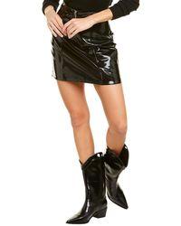 Blank NYC Shiny Mini Skirt - Black