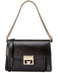 Givenchy Gv3 Small Leather Shoulder Bag - Black