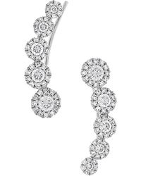 Diana M. Jewels - . Fine Jewelry 14k 0.66 Ct. Tw. Diamond Ear Crawlers - Lyst