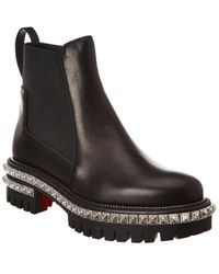 Christian Louboutin By The River Leather Boot - Black