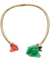 Kenneth Jay Lane Plated Resin Necklace - Metallic