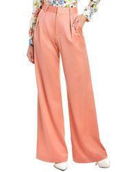 Alice + Olivia Eric Wool-blend Pant - Pink