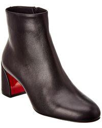 Christian Louboutin Turela 55 Leather Bootie - Black