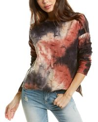 Fate Distressed Pullover - Red