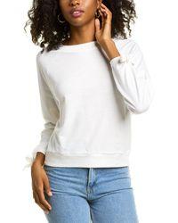 BCBGeneration Tie-sleeve Sweatshirt - White