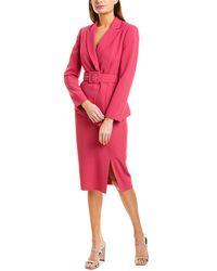 Tahari Tahari Asl 2pc Jacket & Pencil Skirt Set - Pink