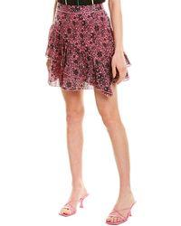 10 Crosby Derek Lam Asymmetrical Ruffle Mini Skirt - Pink
