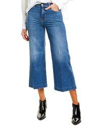FRAME Denim Le Vintage Crop Blindstitch Jean - Blue