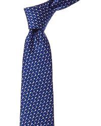 Lanvin Blue Arrows Silk Tie