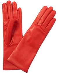 Portolano Portalano Nappa Leather Fresh Papaya Gloves - Red