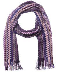 Missoni Wool-blend Scarf - Purple