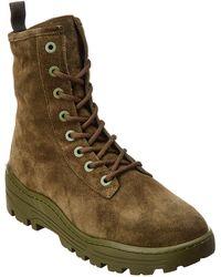 Yeezy Season 6 Suede Combat Boot - Green
