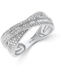 Effy Collection Effy® Diamond Crisscross Ring (5/8 Ct. T.w.) In 14k White Gold - Metallic