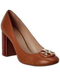 Tory Burch Janey Leather Pump - Brown