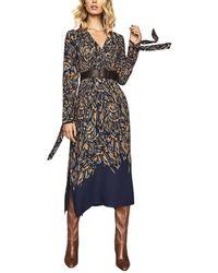 Reiss Erin Midi Dress - Blue