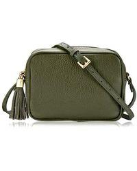 Gigi New York Madison Leather Crossbody - Green