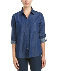 French Connection Lightweight Denim Top - Blue
