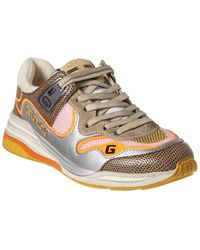 Gucci Ultrapace Leather Trainer - Brown