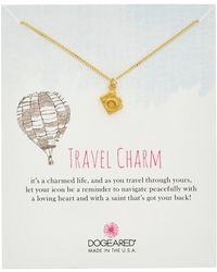 Dogeared - Travel 14k Over Silver Camera Necklace - Lyst
