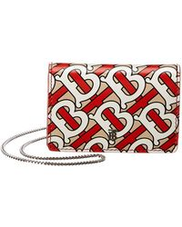 Burberry - Monogram Print Card Case With Detachable Strap - Lyst