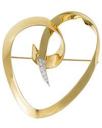 Heritage Tiffany & Co. Tiffany & Co. Paloma Picasso 18k 0.10 Ct. Tw. Diamond Brooch - Metallic