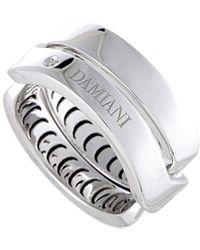 Damiani Certified 18k Diamond Ring - Metallic