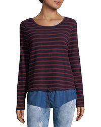 Soft Joie Marilina Striped Shirt - Blue