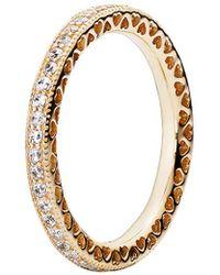 PANDORA Radiant Hearts Of Ring Size 5.5 150186cz50 - Metallic
