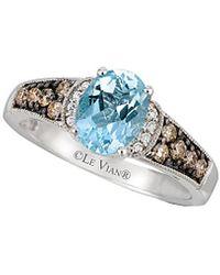 Le Vian ? 14k 1.23 Ct. Tw. Diamond & Aquamarine Ring - Blue