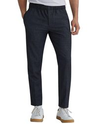 Club Monaco Elasticated Waist Mini-check Trouser - Black